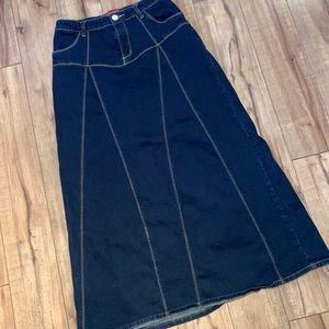 Denim skirt long